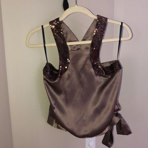 French Connection Silk and Satin Halter